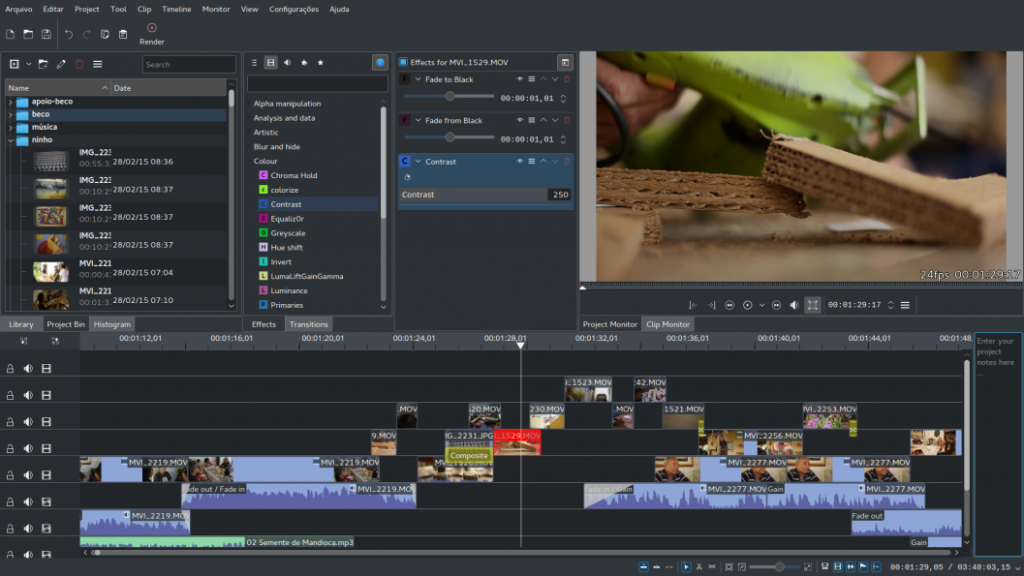 Kdenlive - Free and open-source video editing software