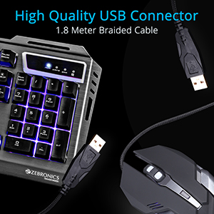 Gaming Multimedia USB Keyboard & USB Mouse