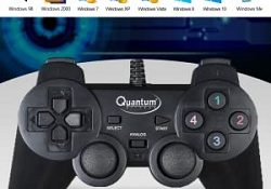 Quantum QHM7468 USB Gamepad with Dual Vibration