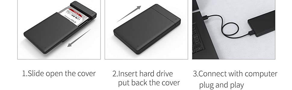 Orico 2.5 USB 3.0 HDD Enclosure Case Cover for SATA SSD HDD